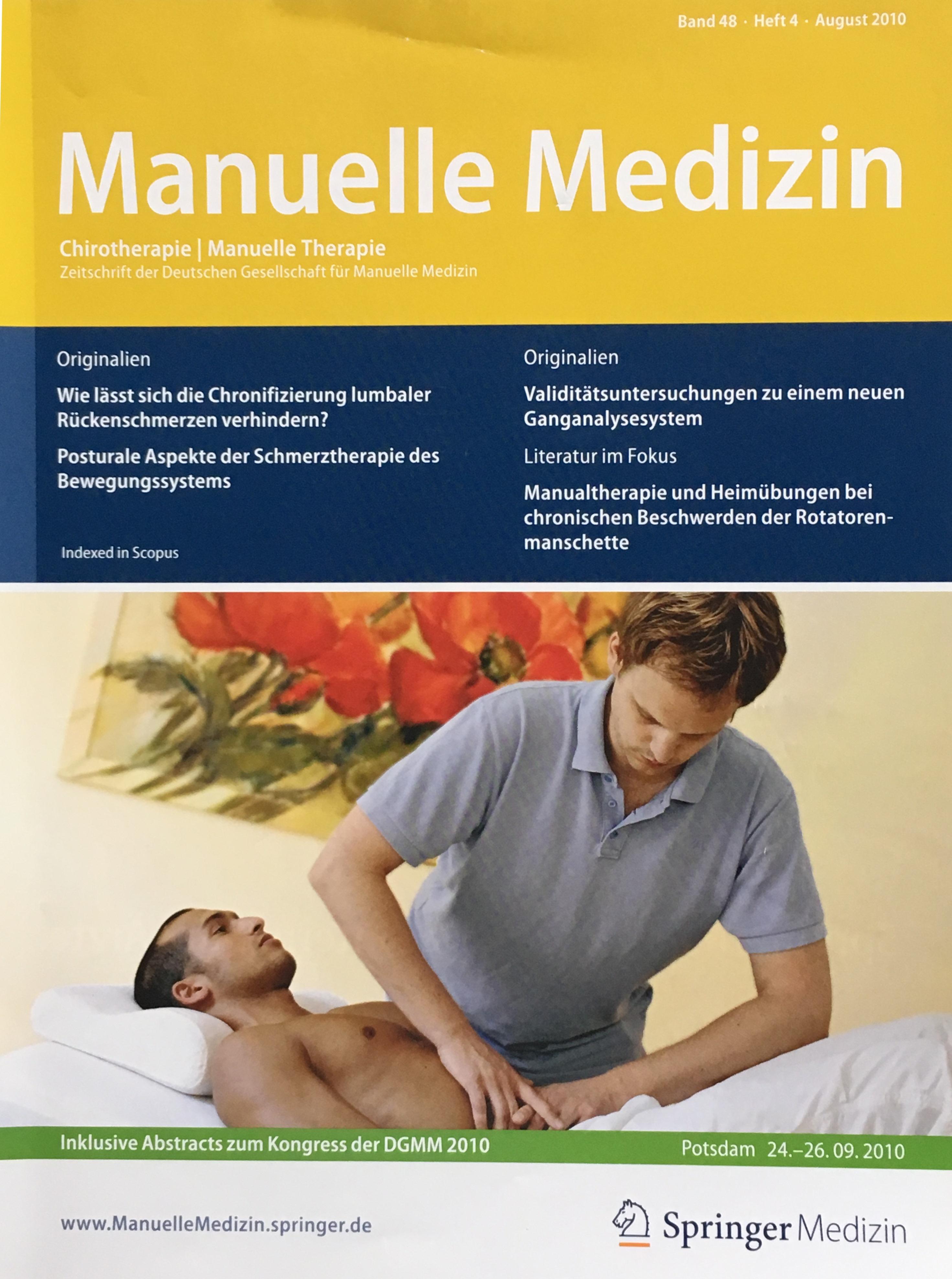 Zeitschrift Manuelle Medizin